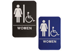 "ADA102_202 - Women ADA Compliant Sign with Wheelchair, 6"" x 9"""