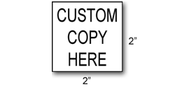 RS06 - Square Rubber Stamp